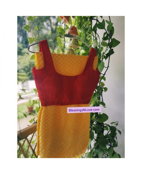 Red Crepe Padded Blouse