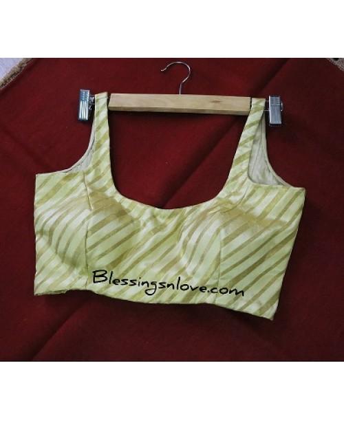 Gold Soft Silk Brocade Blouse