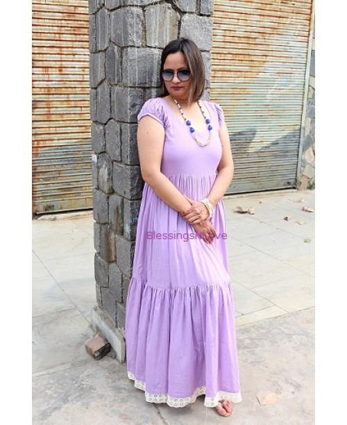 Purple Cotton Maxi