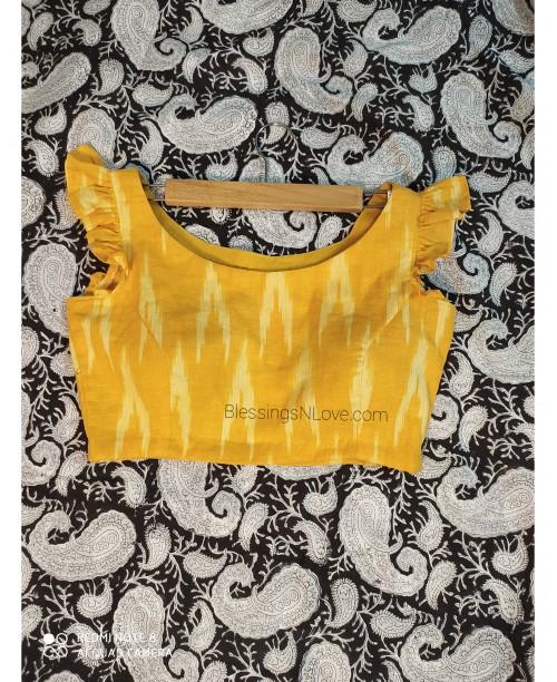 Yellow Ikat Blouse (Padded)
