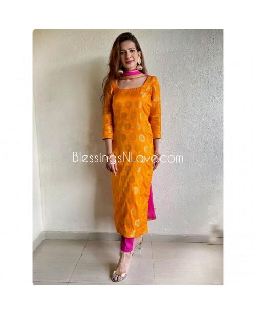 Benarsi Brocade Silk Kurta with Pants