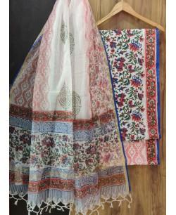 Floral Block Print Suit