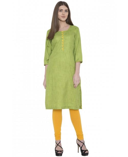 Green Khadi Silk Kurta
