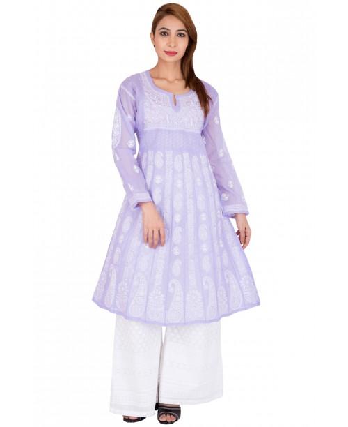 Purple Anarkali